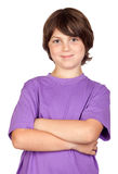Funny Portrait Of Freckled Boy Stock Photography