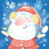 Funny portrait of Santa Claus Royalty Free Stock Photos