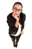 Funny portrait of surprised woman Stock Photography