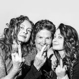 Funny portrait of three women Royalty Free Stock Photos
