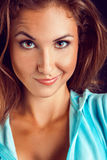 Funny portrait of young adult woman Royalty Free Stock Photos