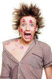 Funny portrait of young man Stock Image