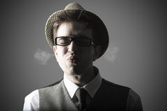 Funny portrait of young stylish man Stock Image