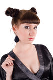 Funny portrait of the young woman royalty free stock photography