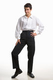 Funny pose of a male teenager royalty free stock photography