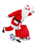 Funny pose of santa claus Royalty Free Stock Images