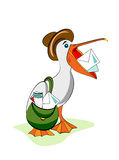 Funny postman bird Royalty Free Stock Photography
