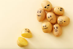 Funny potato Royalty Free Stock Images