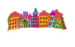 Funny prague houses vector stock illustration
