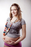 Funny pregnant woman Royalty Free Stock Image