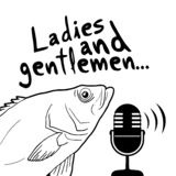 Funny presenter fish draw. Creative design of funny presenter fish draw royalty free illustration