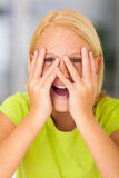 Funny preteen girl Stock Images