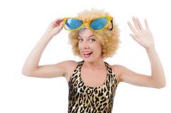 Funny pretty woman Stock Photo