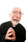 Funny Priest Stock Photo