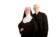 Funny priest and nun Stock Photos