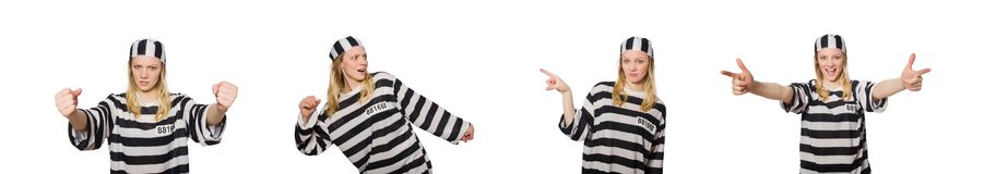 Funny prison inmate in concept. The funny prison inmate in concept stock image