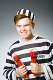 Funny prison inmate Stock Image
