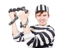 Funny prison inmate Stock Photo