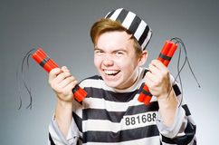 Funny prison inmate Stock Photography