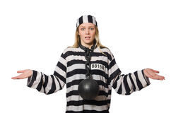 Funny prison inmate Royalty Free Stock Images