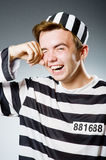 Funny prison inmate Royalty Free Stock Photo