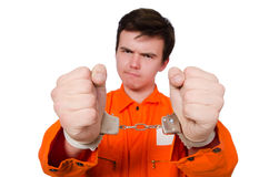 Funny prison inmate Royalty Free Stock Photos