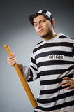Funny prison inmate Royalty Free Stock Image