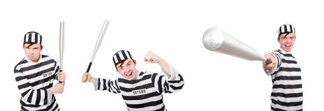 The funny prison inmate in concept Royalty Free Stock Photography