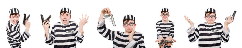 The funny prison inmate in concept Royalty Free Stock Photo