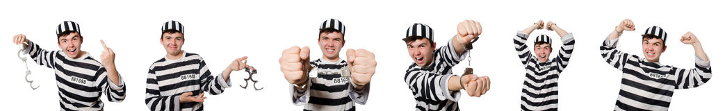 The funny prison inmate in concept Royalty Free Stock Photos