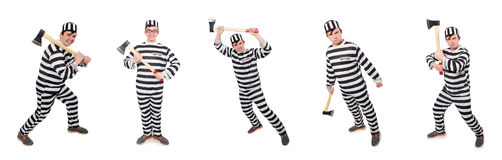 The funny prison inmate in concept Stock Image
