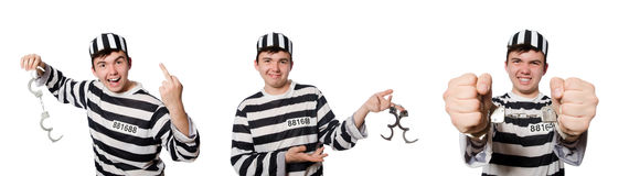 The funny prison inmate in concept Stock Photos