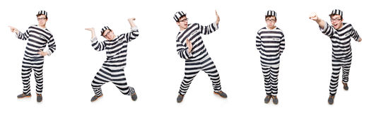 The funny prison inmate in concept Royalty Free Stock Image