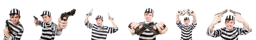 The funny prison inmate in concept Stock Images