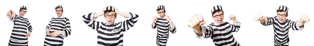 The funny prison inmate in concept Stock Photo