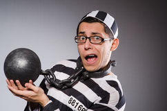 Funny prisoner in chains Royalty Free Stock Image