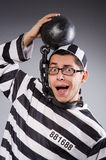 Funny prisoner in chains Royalty Free Stock Photography