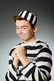 The funny prisoner in prison concept Royalty Free Stock Photos