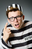 The funny prisoner in prison concept Royalty Free Stock Images