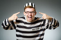 The funny prisoner in prison concept Royalty Free Stock Image