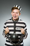 The funny prisoner in prison concept Royalty Free Stock Photo