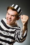 The funny prisoner in prison concept Royalty Free Stock Photography
