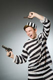 The funny prisoner in prison concept Stock Photography