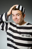 Funny prisoner in prison concept Royalty Free Stock Photography