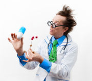 Funny professor Royalty Free Stock Images