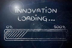 Funny progress bar with innovation loading Royalty Free Stock Photos