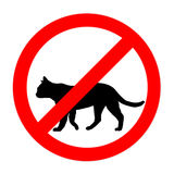 Funny prohibited road sign cats icon isolated Stock Photos