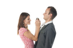 Funny proposal scene Stock Images