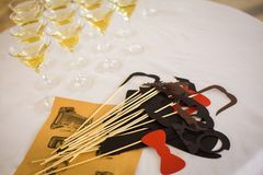 Funny props for party royalty free stock photography