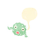 Funny puffer fish retro cartoon Stock Photos